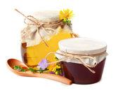 Fresh honey in the pot — Stock Photo