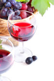 Red wine in a glass — Stock Photo