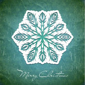 Christmas card with snowflakes — Stock Vector