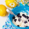 Постер, плакат: Cottage cheese with blackberry
