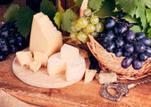 Various cheeses — Foto Stock