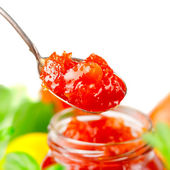 Jam in a spoon — Stock Photo