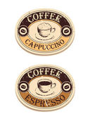 Vintage label coffee — Stock Vector