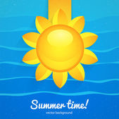 Summer background with the sun — Stock Vector
