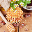 Royalty-Free Stock Photo: Waffles with honey