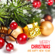 merry christmas decoratie — Stockfoto