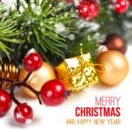 Веселые рождественские украшения — Стоковое фото