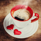 Morning coffee for a loved one. — Stock Photo
