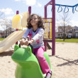 Little girl playing in park — Stock Photo #45994751