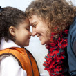 Mother and daughter nose to nose  — Stock Photo #45994857