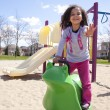 Little girl playing in park — Stock Photo #45994925