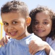 Bother and sister hugging — Stock Photo #45995203