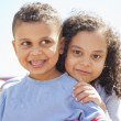 Bother and sister hugging — Stock Photo #45995205