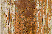 Old painted wooden door background — Stock Photo