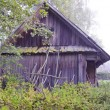 Old wooden barn in farm - Stock Photo
