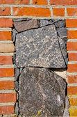 Historical manor wall bricks and stone — Stock Photo