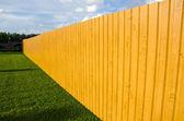 New wooden fence in farm — Foto de Stock