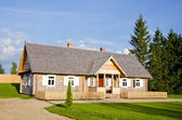 New wooden country house for tourists — Stock Photo