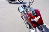 Biker motorcycle with eagle symbol — Foto de Stock