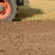 Stock Video: Tractor in summer end tillage