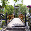 Original river bridge in park — Stock Photo