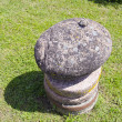 Stock Photo: Stone and millstone in farm