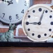 Stock Photo: Old clock stone dial