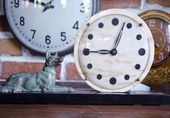 Old clock stone dial — Stock Photo