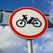 Motorcycle sign on sky background — Stock Photo