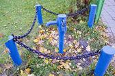 Idrante strada vintage blu — Foto Stock