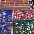 Stock Video: Jewelry stones in street market