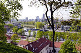 Lithuanian capital Vilnius panorama — Stock Photo