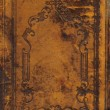Old and dirty ornamental book cover — Stock Photo