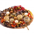 Original handmade brooch with various stones and shells — Stock Photo #14433141