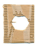 Package cardboard background with hole — Stockfoto
