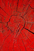 Red cracked and painted wood background — Stock Photo