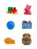 Various toys isolated on white background — Stock Photo