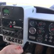 Stock Video: Sport aircraft console and propeller motion