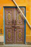 Original and ornate door in Jaipur, India — Stockfoto