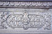 Historische dekorative wand-hintergrund in indien — Stockfoto