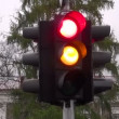 Stock Video: Stoplight in city street