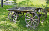 Historical wooden carriage in rural park — Stock Photo