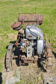 Old agriculture motor in farm — Stock Photo