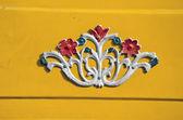 Metal decor on car in India — Stock Photo