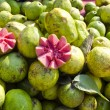 Stock Photo: Fresh guavfruits in street market Delhi, India