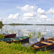 Stock Photo: Summer time boats on lake