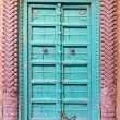 Beautiful and ornamental door in Jodhpur, India — Stock Photo