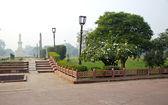 Parklandschaft in stadt agra, indien — Stockfoto