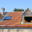 Stock Photo: Roof works with ceramic tiles