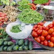 Various vegetables in Delhi street market, India - Stock Photo